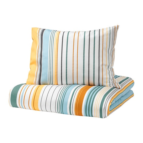 bl rips dekbedovertrek met 2 slopen 240x220 60x70 cm ikea. Black Bedroom Furniture Sets. Home Design Ideas