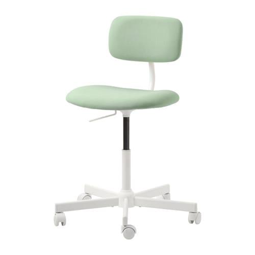 Bureaustoel 60 Cm Zithoogte.Bleckberget Bureaustoel Idekulla Lichtgroen Ikea