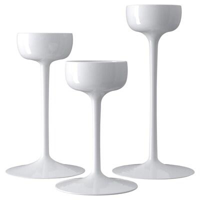 BLOMSTER kandelaar set van 3 wit