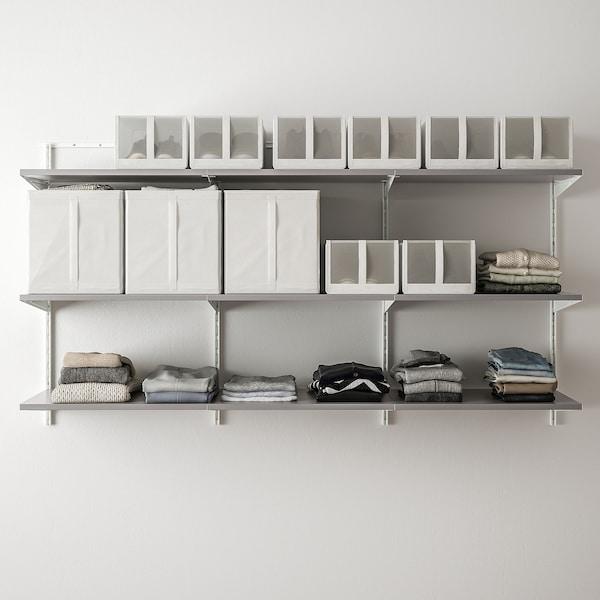 BOAXEL 3 elementen, wit/grijs, 187x40x101 cm