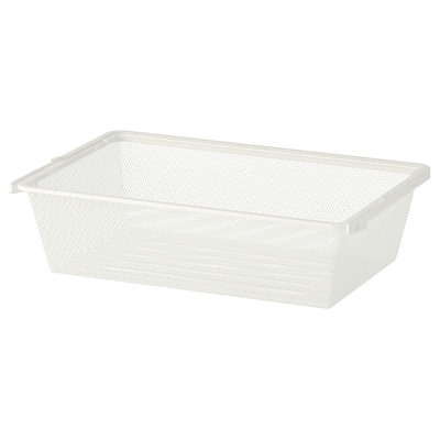 BOAXEL Fijndraadmand, wit, 60x40x15 cm