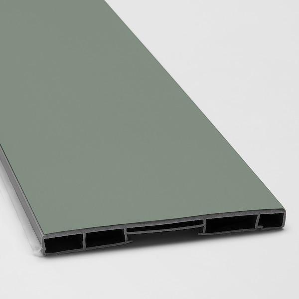BODARP Plint, grijsgroen, 213x11 cm