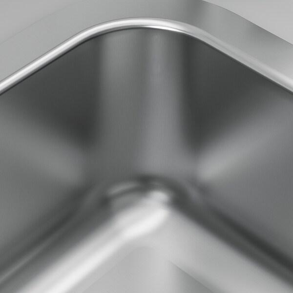 BOHOLMEN Inbouwspoelbak, 1 bak, roestvrij staal, 47x30 cm
