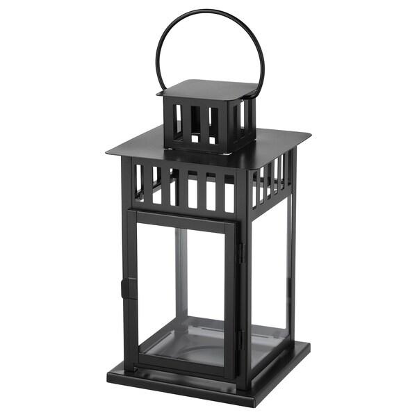 Betere BORRBY Lantaarn voor stompkaars, zwart binnen/buiten zwart - IKEA WP-73