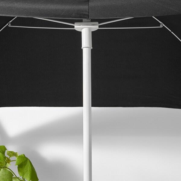 BRAMSÖN / FLISÖ Parasol met voet, zwart