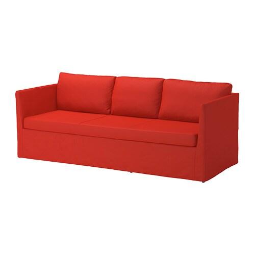 br thult 3 zitsbank vissle rood oranje ikea. Black Bedroom Furniture Sets. Home Design Ideas