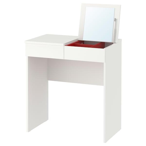 Kaptafel Spiegel Met Verlichting Ikea.Toilettafel Brimnes Wit