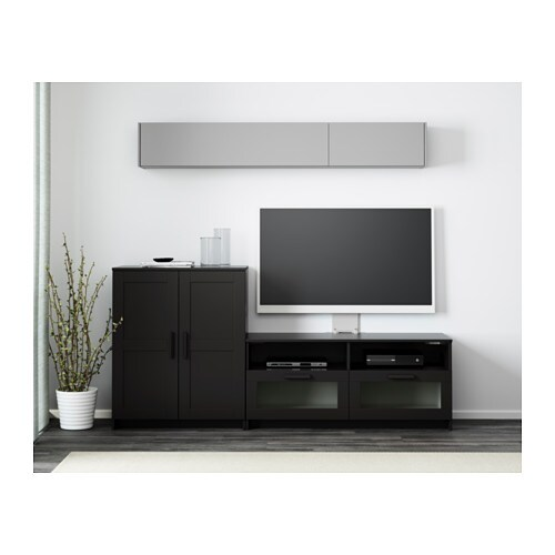 brimnes tv meubel combi zwart ikea. Black Bedroom Furniture Sets. Home Design Ideas