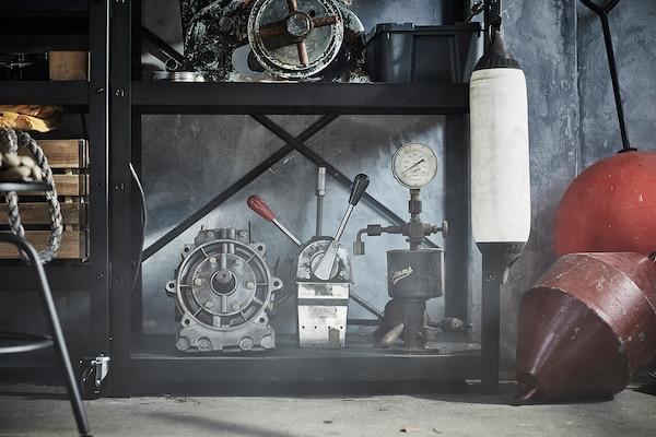 BROR Open kast, zwart, 85x40x190 cm