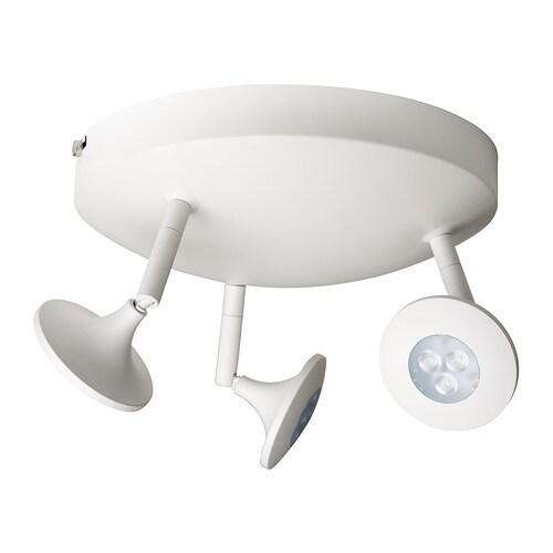 centigrad led plafondspot met 3 spots ikea. Black Bedroom Furniture Sets. Home Design Ideas