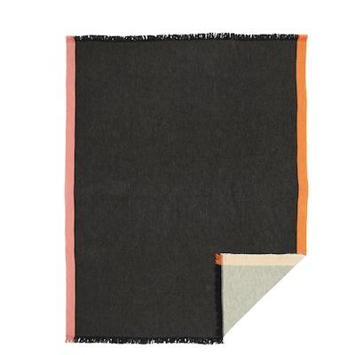 DEKORERA Plaid, antraciet, 130x160 cm