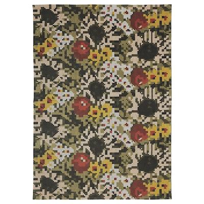DEKORERA Vloerkleed, glad geweven, bloemenpatroon, 160x220 cm