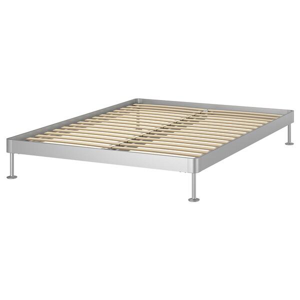 DELAKTIG Bedframe, aluminium, 160x200 cm