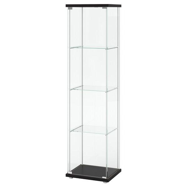 Verwonderlijk DETOLF Vitrinekast, zwartbruin, 43x163 cm - IKEA NR-27