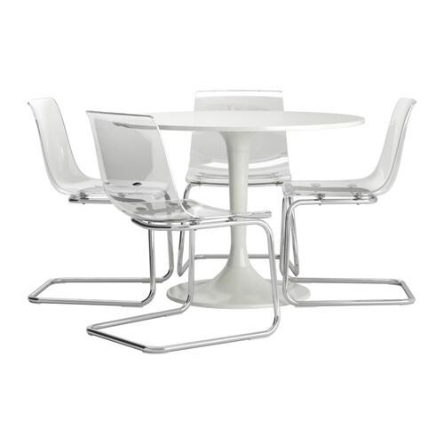 DOCKSTA / TOBIAS Tafel en 4 stoelen IKEA Door de veerkrachtige zitting ...