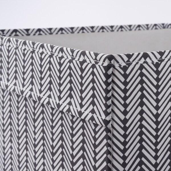 DRÖNA Bak, zwart/wit met een patroon, 33x38x33 cm
