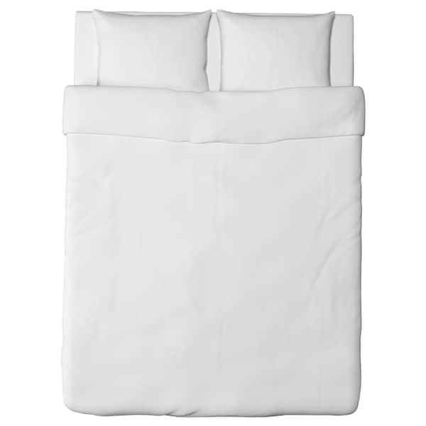 DVALA Dekbedovertrek en 2 kussenslopen, wit, 200x200/60x70 cm