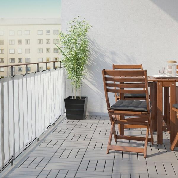 DYNING Inkijkbeschermer balkon, wit, 250x80 cm