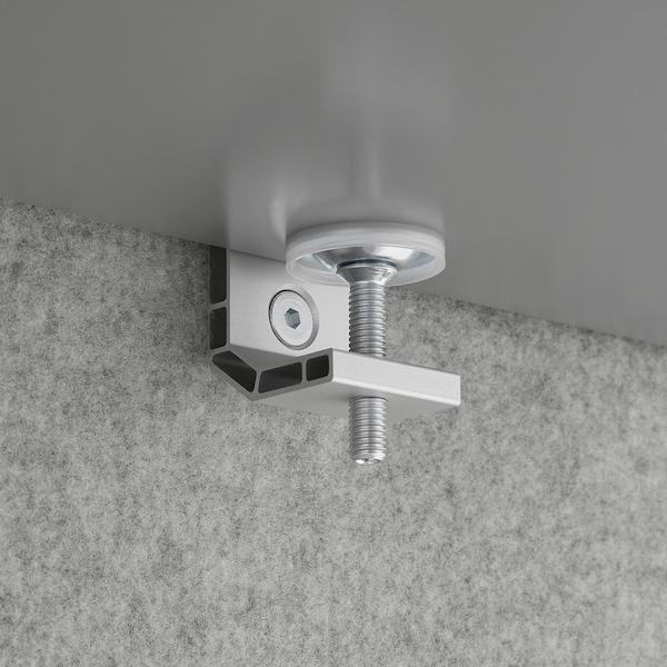 EILIF Scherm voor bureau, grijs, 120x48 cm