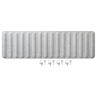 EILIF Scherm voor bureau, grijs, 160x48 cm