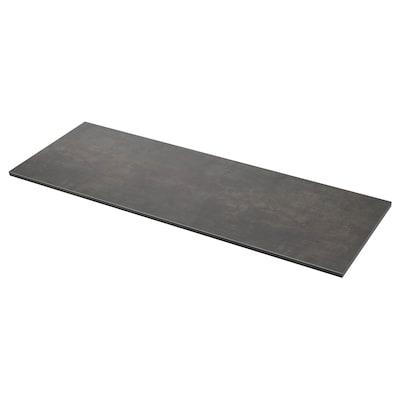 EKBACKEN Werkblad, betonpatroon/laminaat, 186x2.8 cm