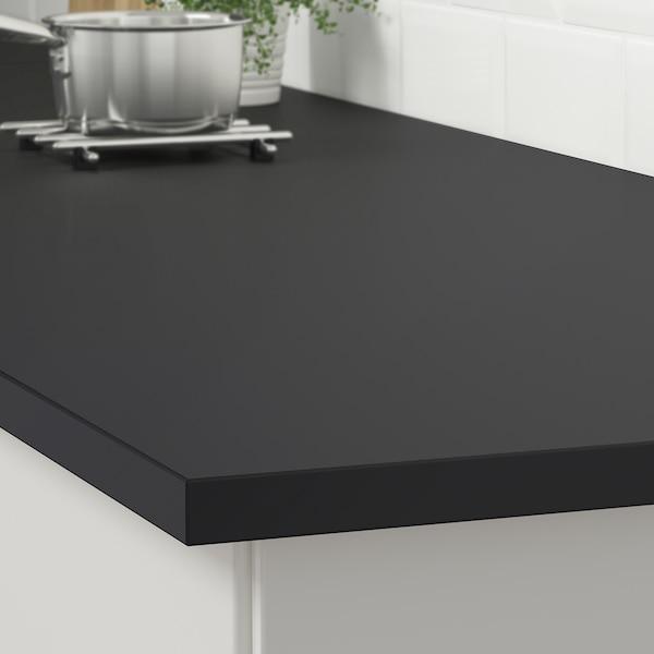 EKBACKEN Werkblad, mat antraciet/laminaat, 246x2.8 cm