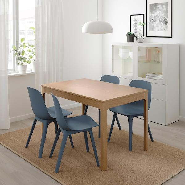 Ikea Eettafel 4 Stoelen.Ekedalen Odger Tafel En 4 Stoelen Eiken Blauw Ikea