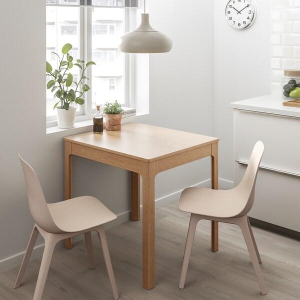 ODGER Eetkamerstoel, wit, beige IKEA