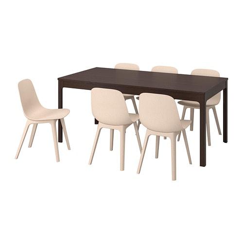 6 Eetkamerstoelen Tafel.Ekedalen Odger Tafel Met 6 Stoelen Ikea