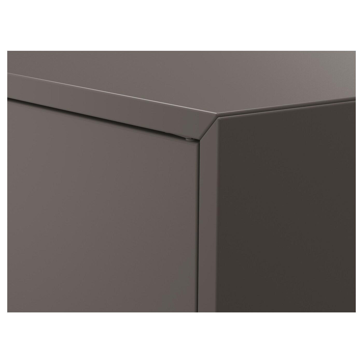 EKET Kast met 2 deuren en 1 plank, donkergrijs, 70x35x70 cm