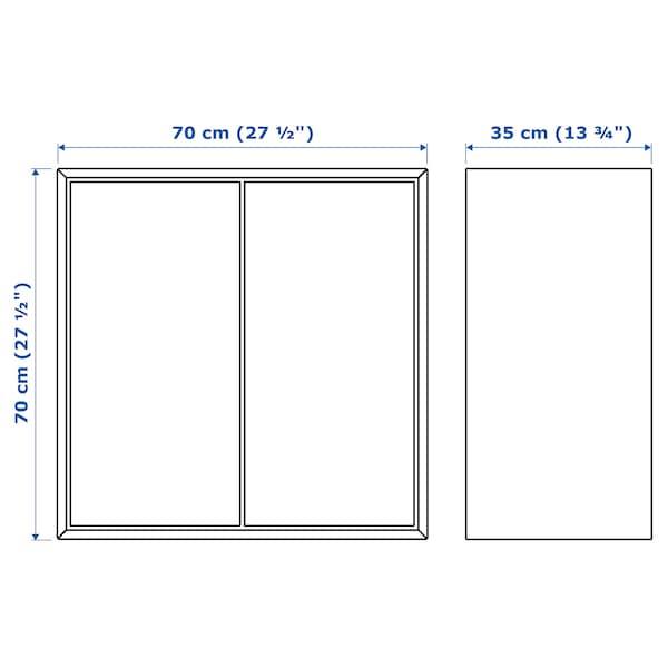 EKET Kast met 2 deuren en 1 plank, wit, 70x35x70 cm