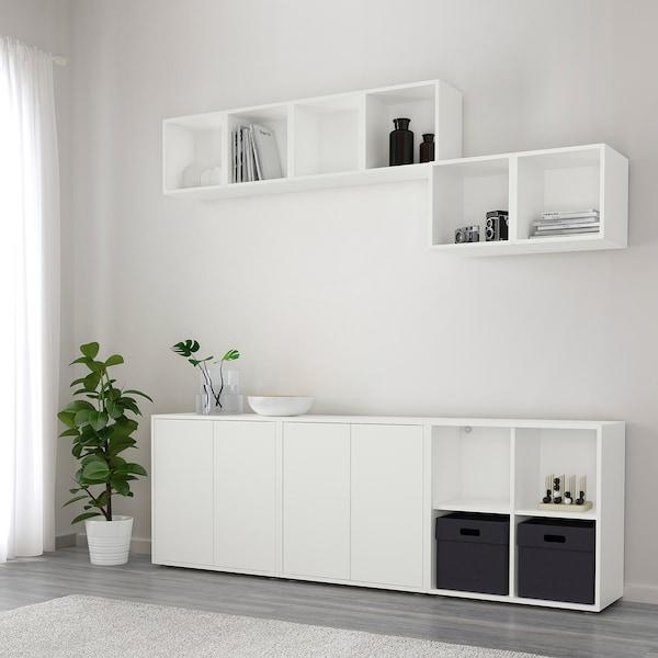 EKET Kastencombinatie met doppen, wit, 210x35x180 cm