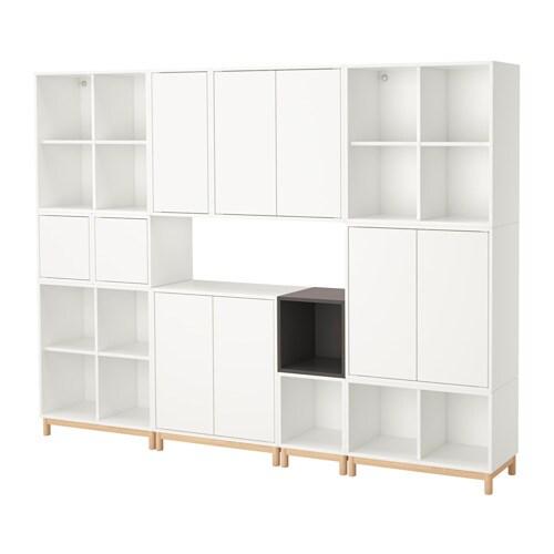 EKET Kastencombinatie met poten   wit  donkergrijs   IKEA