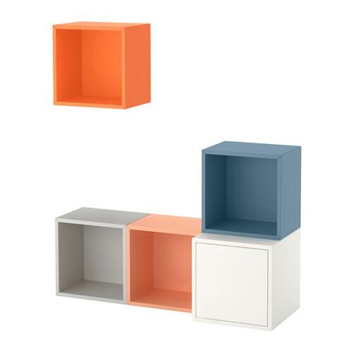 eket kastencombinatie voor wandmontage veelkleurig ikea. Black Bedroom Furniture Sets. Home Design Ideas