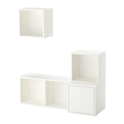 eket kastencombinatie voor wandmontage wit ikea. Black Bedroom Furniture Sets. Home Design Ideas