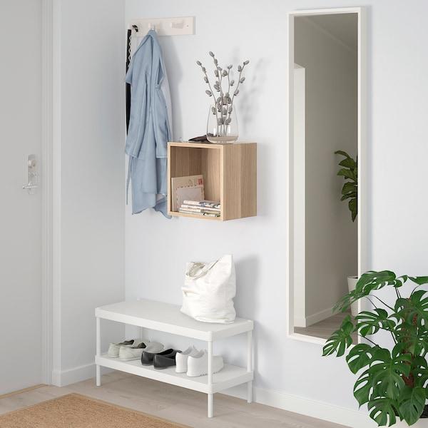 EKET Open kast wandmontage, wit gelazuurd eikeneffect, 35x25x35 cm