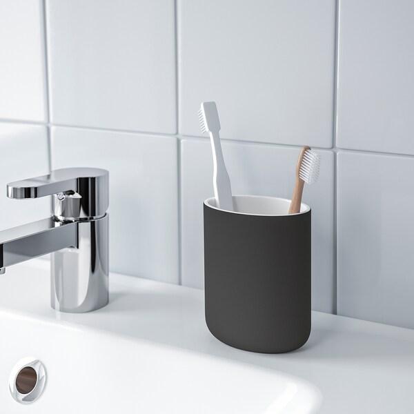 EKOLN tandenborstelhouder donkergrijs 11 cm