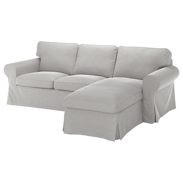 EKTORP 3-zitsbank met chaise longue/Tallmyra wit/zwart 252 cm 88 cm 88 cm 163 cm 45 cm