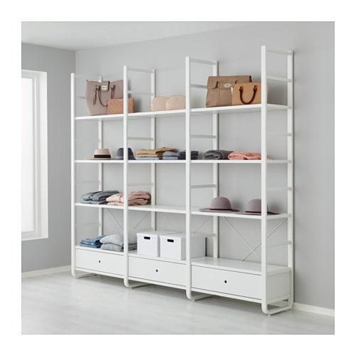 ELVARLI 3 elementen IKEA Je kan deze open opbergoplossing altijd naar ...