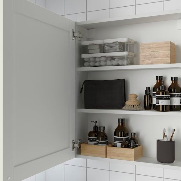 ENHET Bovenkast m 2 planken/deuren, wit/wit frame, 60x15x75 cm
