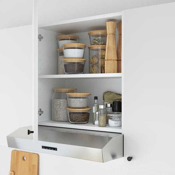 ENHET Keuken, antraciet/wit, 243x63.5x222 cm