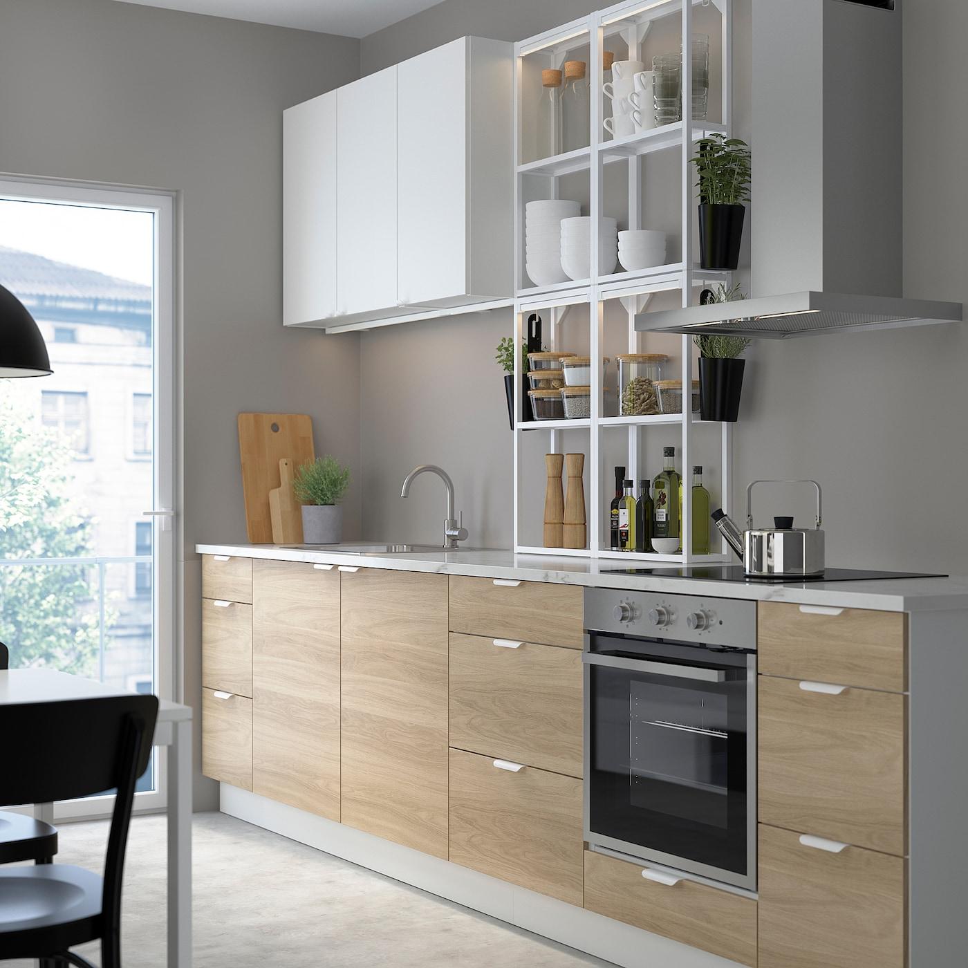 Enhet Keuken Wit Eikenpatroon Wit Ikea