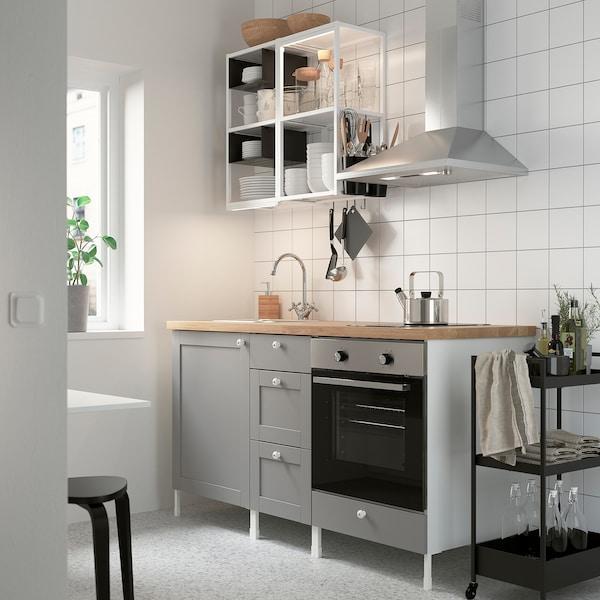 Enhet Keuken Wit Grijs Frame Ikea