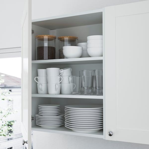 ENHET Opbergcombinatie voor was, antraciet/wit frame, 90x32x180 cm