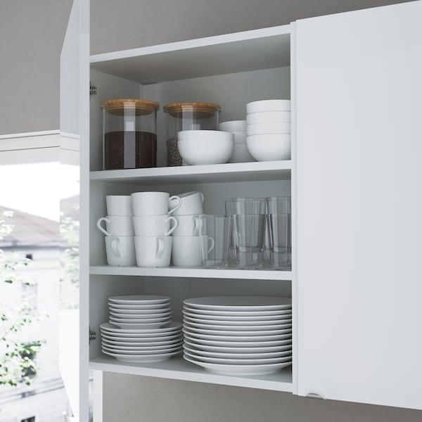 ENHET Opbergcombinatie voor was, wit/hoogglans wit, 90x32x180 cm