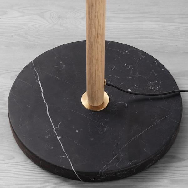 EVEDAL Staande lamp, marmer/grijs