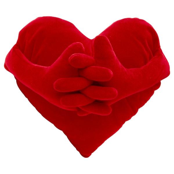 FAMNIG HJÄRTA Kussen, rood, 40x101 cm