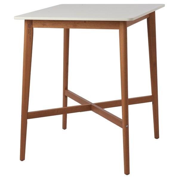FANBYN Bartafel, wit, 75x75x95 cm