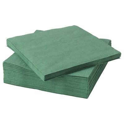 FANTASTISK papieren servet donkergroen 33 cm 33 cm 50 st.