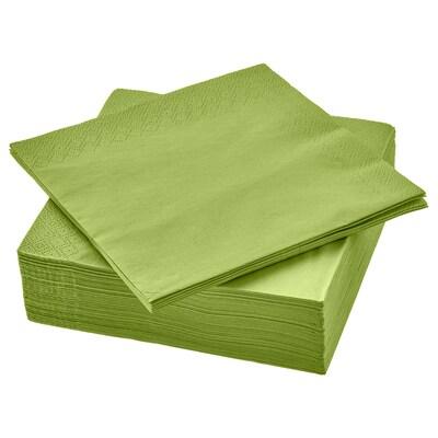 FANTASTISK papieren servet middengroen 33 cm 33 cm 50 st.